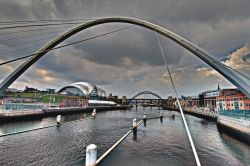The Millennium Bridge, Sage building and the Tyne Bridge