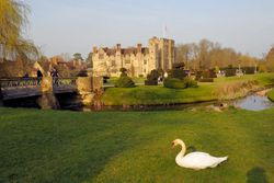 Hever Castle - Castle and Swan ~ March 2009