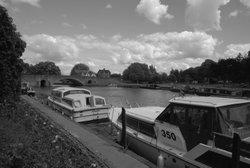 River Boats on River Thames near Abingdon - July 2009