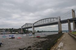 Royal Albert Rail Bridge - Saltash - June 2009 Cloudy Day