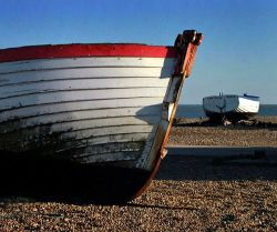 Boats on the beach at Aldeburgh, Suffolk