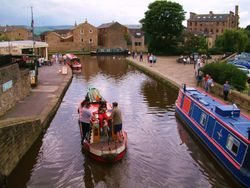 Barges in Skipton, North Yorkshire