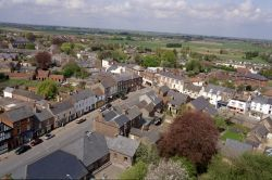 Long Sutton Market Place from top of Church Spire