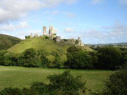 Evening Light on Corfe Castle