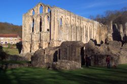 View of Rievaulx Abbey from the south east