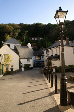 The widest road in Polperro.