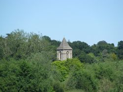 A Tower across Whitlingham lake