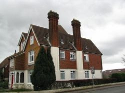 Houses in Brundall with high Chimneys.
