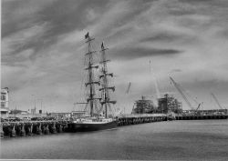 Tall Ship in Lowestoft Harbour