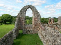 The old refectory at Leiston Abbey