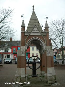 Victorian water well in the centre of town
