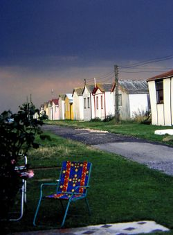 A few old holiday huts.