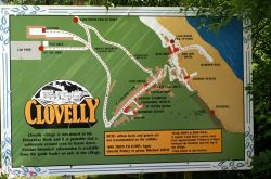 Map of Clovelly