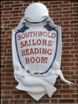 Plaque on the Sailors Reading Room.