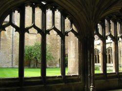Cloister windows at Lacock Abbey