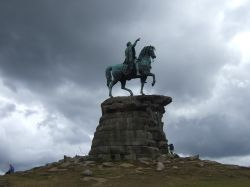 Statue of George III  in Windsor Great  Park