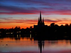 Lichfield Cathedral sunset