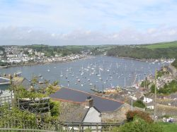 View from Polruan towards Fowey