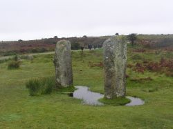 The Pipers standing stones on Bodmin Moor