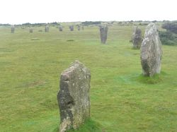 The Hurlers stone circles on Bodmin Moor