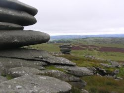 The Cheesewring on top of Bodmin Moor