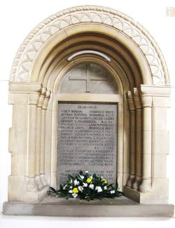 War Memorial in the Church