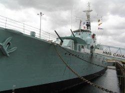 HMS Cavalier at Chatham Naval Dockyard