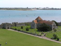Portchester Castle in Portsmouth Harbour