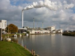 Cantley Sugar Beet Factory by the River Yare.
