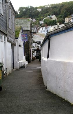 Narrow lane by the quay.