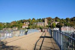 On the Historic Ironbridge looking over it - October 2009