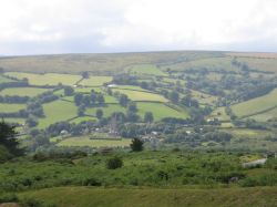 View of Widecombe in the Moor, Devon