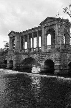 Monochrome of Palladian bridge