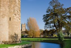 Nunney Church seen from the Castle