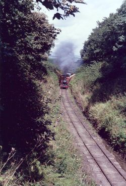 The Laxey train en route to Snaefell