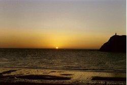 Sunset over Port Erin Isle of Man