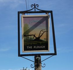 The Plough Inn sign
