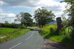 Quiet country lane near Waddington.