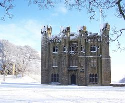 Snowy Hylton Castle on New Years Day