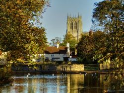 Tickhill pond and Church