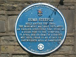 The Dumb Steeple Plaque, Cooper Bridge.