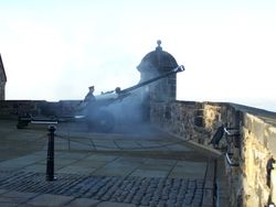 The One o'clock Gun being fired