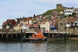 Whitby Harbour with the Lifeboat