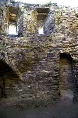 Inside St Catherine's Castle.