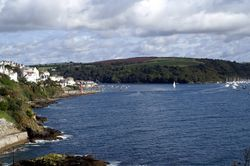 Looking towards Fowey from St Catherine's Castle