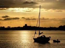 Sunset over Christchurch Harbour