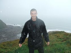 Myself looking very wet