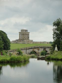 Castle Howard, New River Bridge and Mausoleum