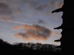 Woodchester Mansion at dusk