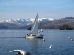 Bowness Bay in winter.